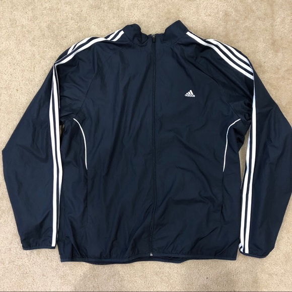 3 Stripe Jacket Men's Adidas Blue Euc Navy Xl RSAj4q5c3L
